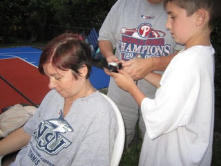 She let me shave it off on Mother's Day, 2011.
