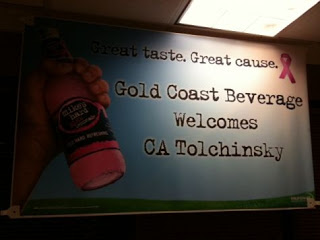My mom spoke at Gold Coast Beverage in October 2011.