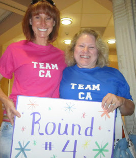 Dr. Holly and Maureen helped with the fight!